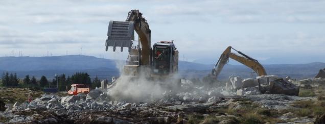 Naturødeleggelser på Frøya, juli 2019, foto av Brage Sæther