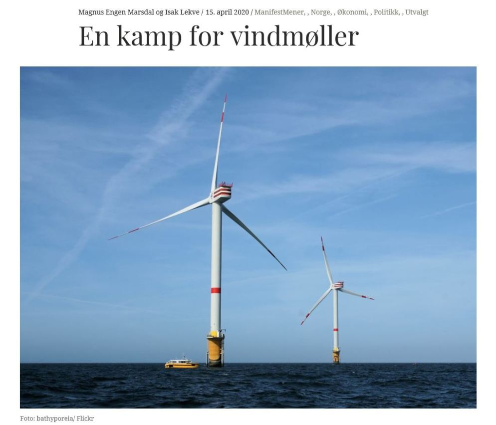 En kamp for vindmøller